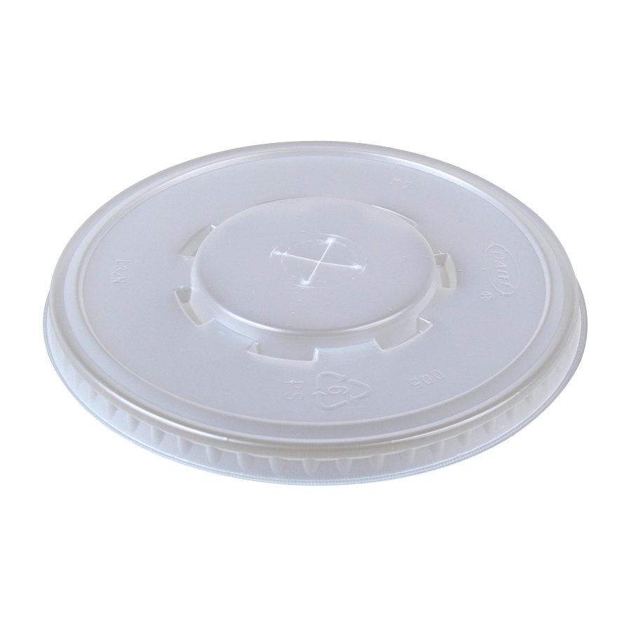 Dart Conex L32C Clear Plastic Lid with Straw Slot 1000/Case