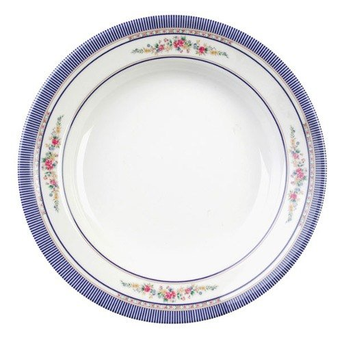 Thunder Group 1106AR Rose 3 oz. Round Melamine Soup Plate - 12/Pack