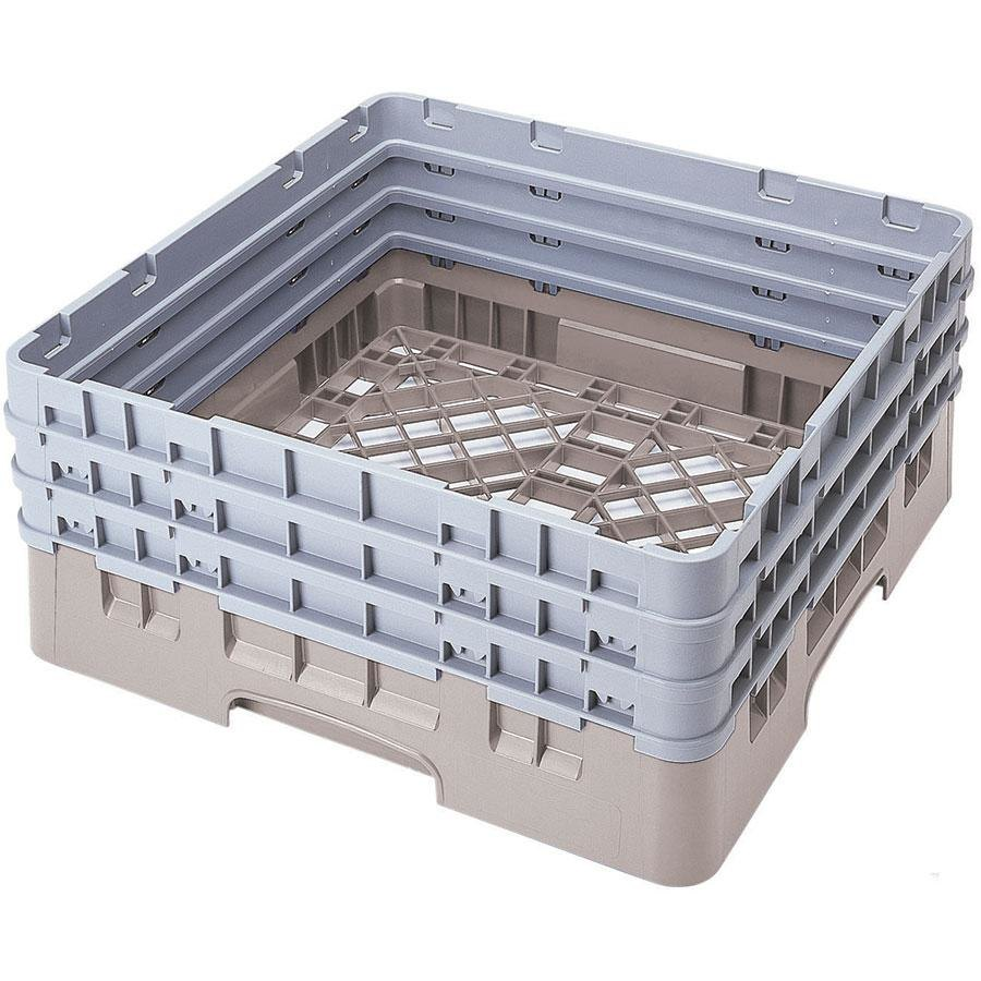 Cambro BR712184 Beige Camrack Full Size Open Base Rack with 3 Extenders