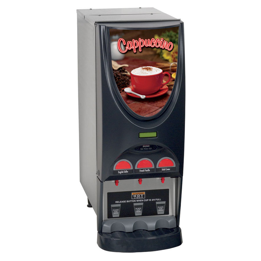 Bunn iMIX-3 SST Powdered Cappuccino Dispenser with 3 Hoppers - 120V (Bunn 36900.0001)