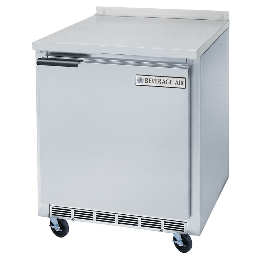 Beverage air wtr27a 27 worktop refrigerator 1 door for 1 door chiller