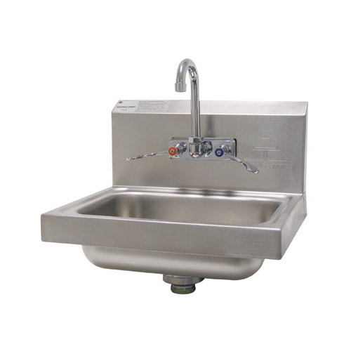 Advance Tabco 7-PS-68 Hand Sink with Splash Mount Faucet and Wrist ...