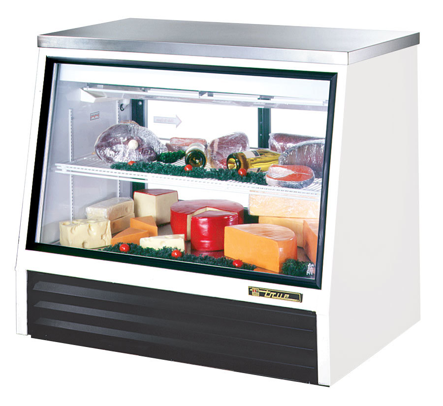 True TSID-48-2-L Counter Height Refrigerated Deli Case - 17 Cu. Ft.