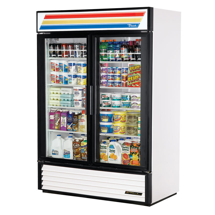 White True GDM-49 Swing Glass Door Refrigerated Merchandiser - 49 Cu. Ft.