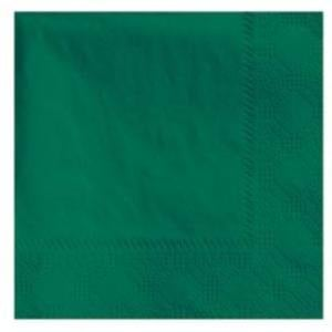 Hoffmaster 180337 Hunter Green Beverage / Cocktail Napkin - 250 / Pack