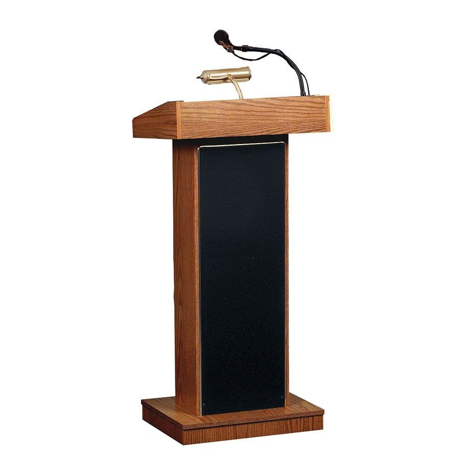 Oklahoma Sound 800XMO Medium Oak Finish Orator Lectern with Sound