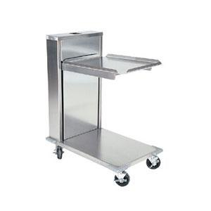 "Delfield CT-1221 Mobile Cantilevered Tray Dispenser for 12"" x 21"" Food Trays"