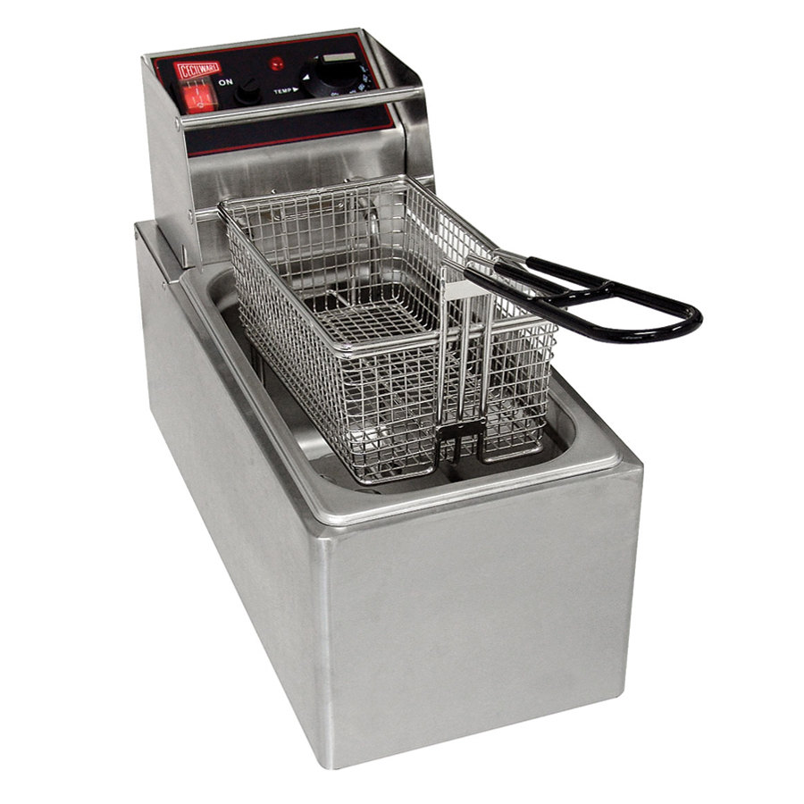 Grindmaster Cecilware Cecilware EL6 Stainless Steel Electric Commercial Countertop Deep Fryer with 6 lb. Fry Tank - 120V, 1800W at Sears.com