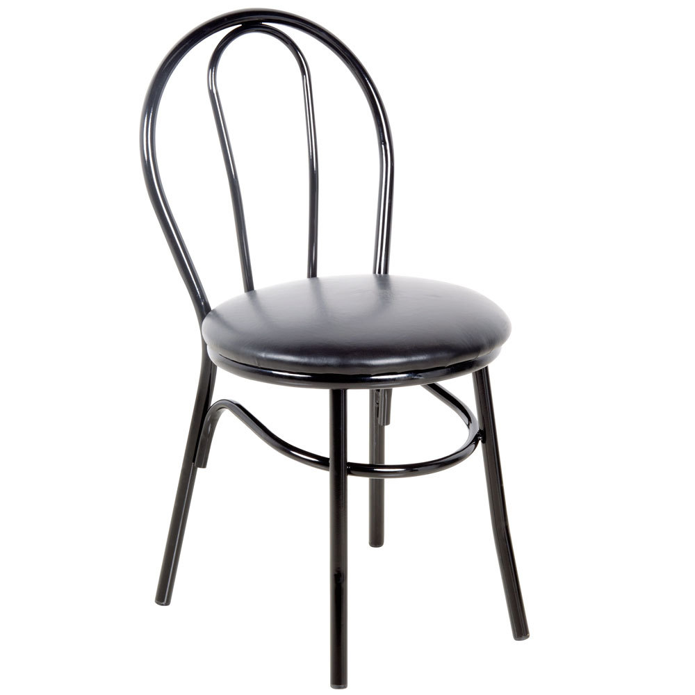 ... Restaurant Dining Room Chairs; Under 75; Lancaster Table Seating Black  Hairpin Cafe Chair With 1 1 4 Inch Padded ...