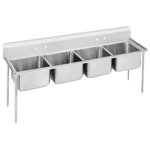 Advance Tabco 93-84-80 Regaline Four Compartment Stainless Steel Sink - 97""