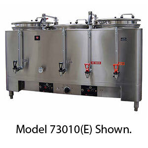 Grindmaster 73010(E) Triple 10 Gallon Automatic Mid Line Coffee Urn - 120/208V
