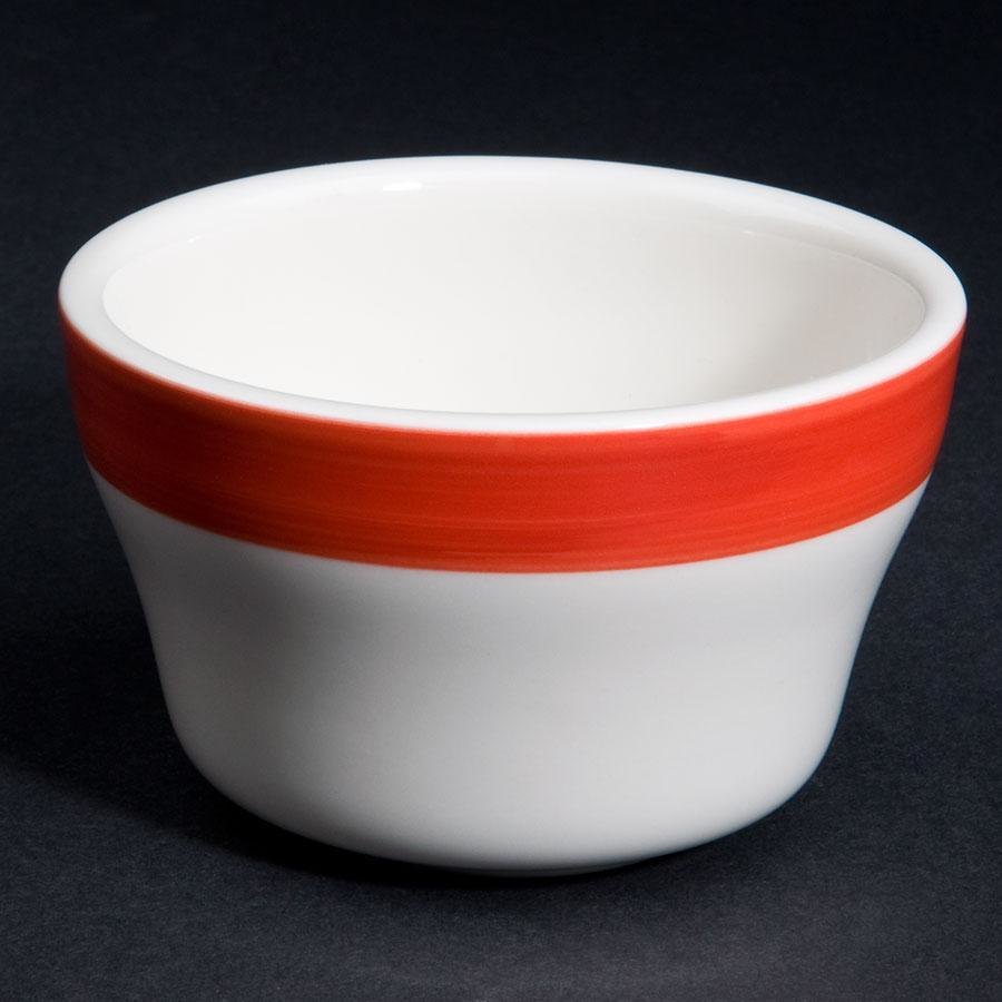 CAC R-4-RED Rainbow Bouillon Bowl 7.25 oz. - Red - 36/Case