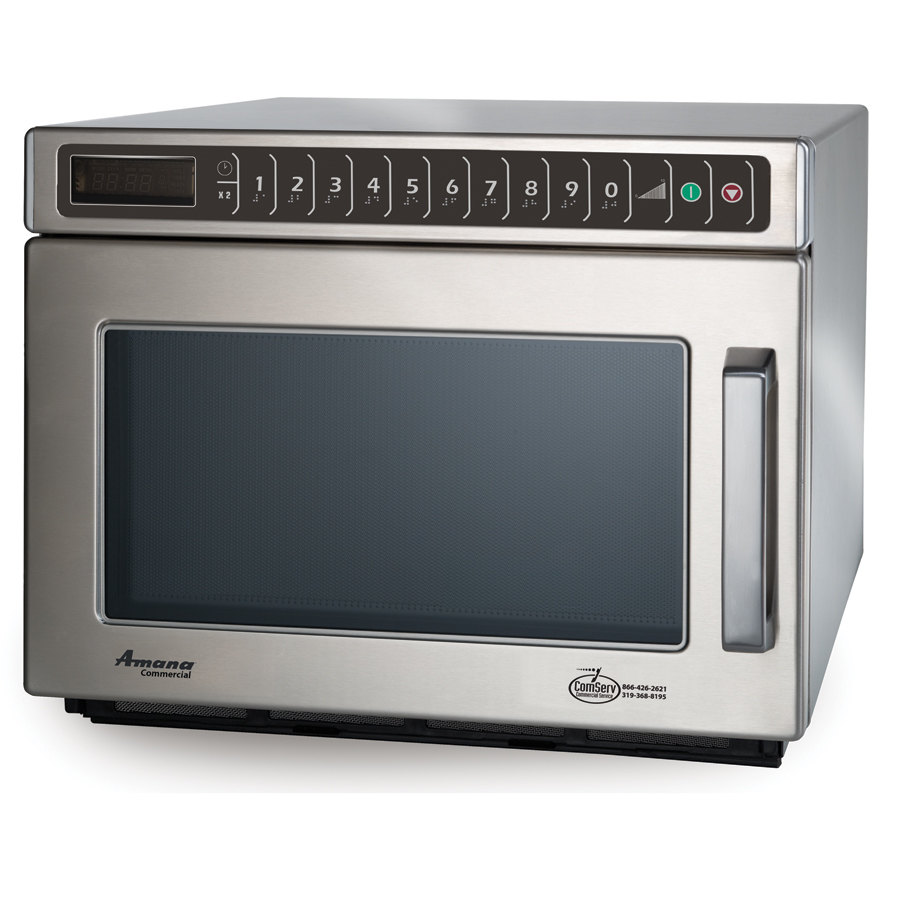 Amana Commercial Microwaves Amana HDC12A2 1200 Watt Heavy Duty Commercial Microwave with Push Button Controls - 120V All Stainless at Sears.com
