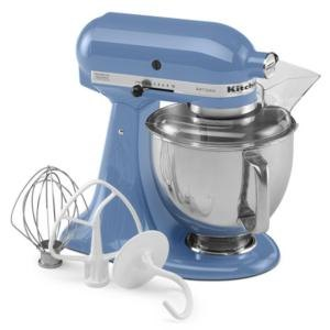 KitchenAid KSM150PSCO Cornflower Blue Artisan Series 5 Qt. Stand Mixer