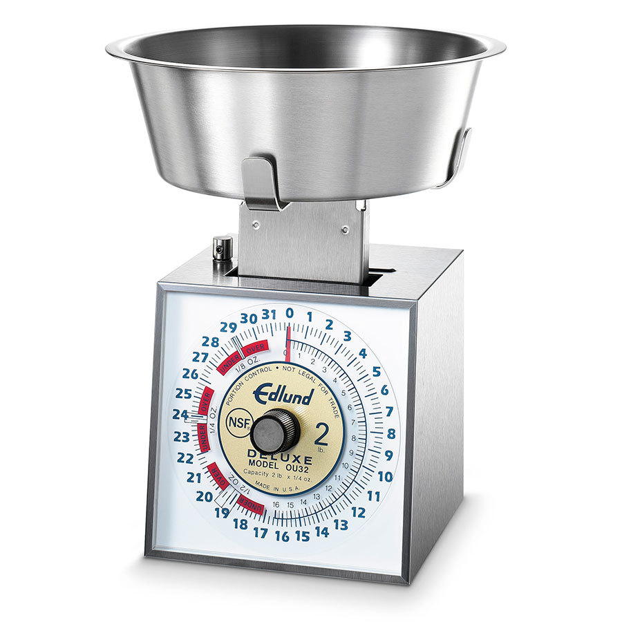 Edlund OU-32 Deluxe 32 oz. Over / Under Portion Control Scale with 3 qt. Bowl
