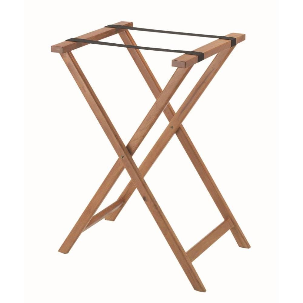 Aarco Walnut Folding Wood Tray Stand - 31""