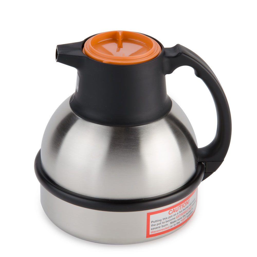 Bunn 36252.0000 Zojirushi 62 oz. Stainless Steel Deluxe Thermal Carafe - Orange Top