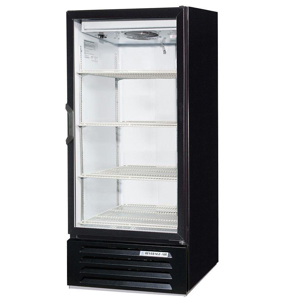 "Beverage Air LV10-1-B-LED Black LumaVue 24"" Refrigerated Glass Door Merchandiser with LED Lighting - 10 Cu. Ft."