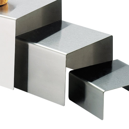 "Cal-Mil 239-4 6"" x 4"" Stainless Steel Open Square Riser"