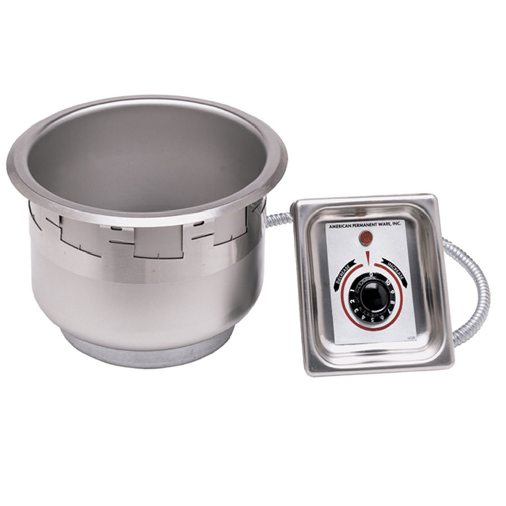 APW Wyott SM-50-7 UL 7 Qt. Round Drop In Soup Well with UL Electrical Kit