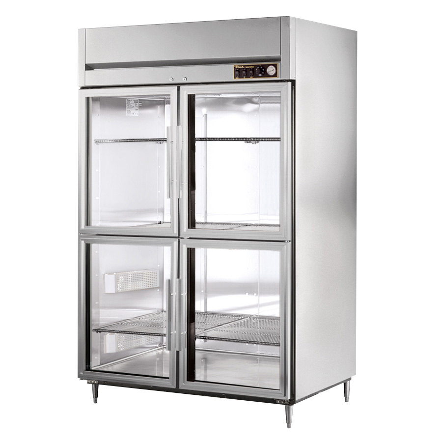 True STG2H-4HG Specification Series Two Section Reach In Heated Holding Cabinet with Glass Half Doors
