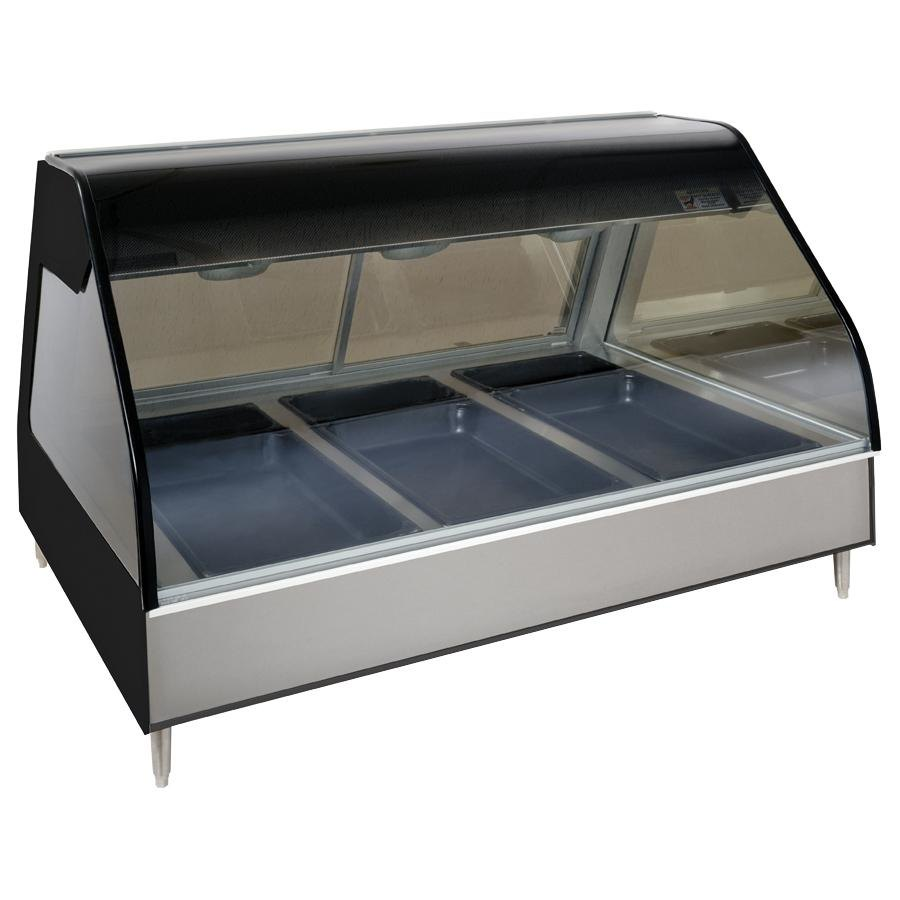 Alto-Shaam ED2-48/P BK Black Heated Display Case with Curved Glass - Self Service 48""
