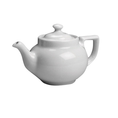 Hall China 210CWHA White Boston Teapot Replacement Lid - 12/Case