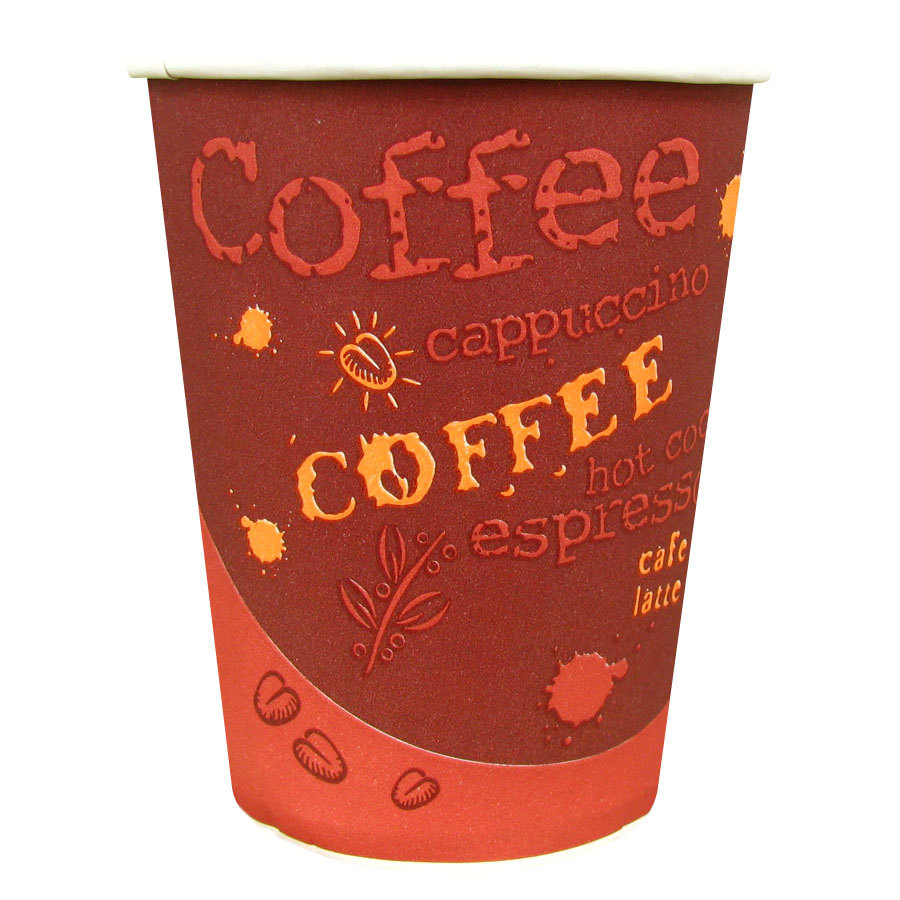 Choice 10 oz. Paper Hot Cup with Coffee Design 50 / Pack