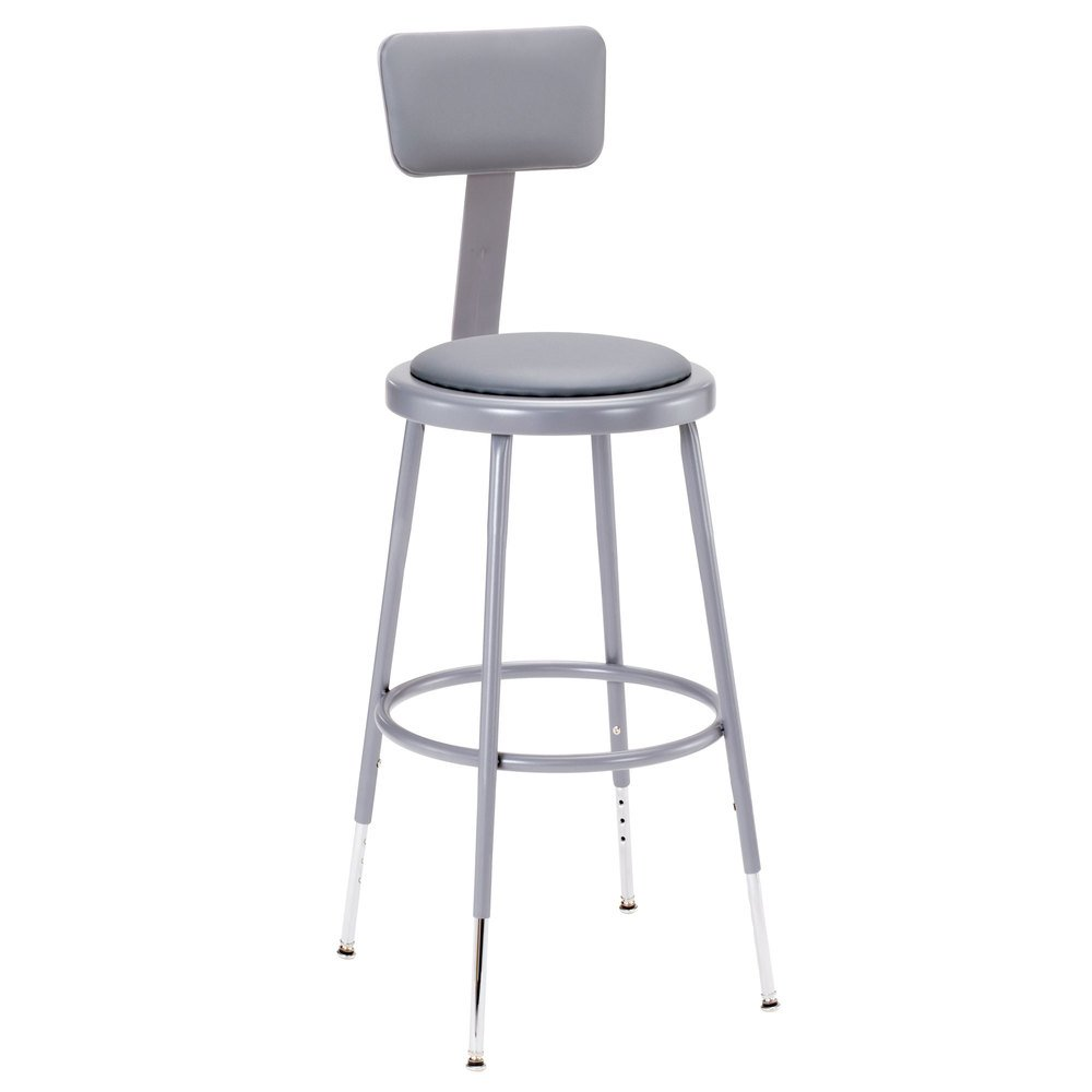 ... Adjustable Round Padded Lab Stool with. Main Picture · video  sc 1 st  Webstaurant Store & National Public Seating 6424HB 25