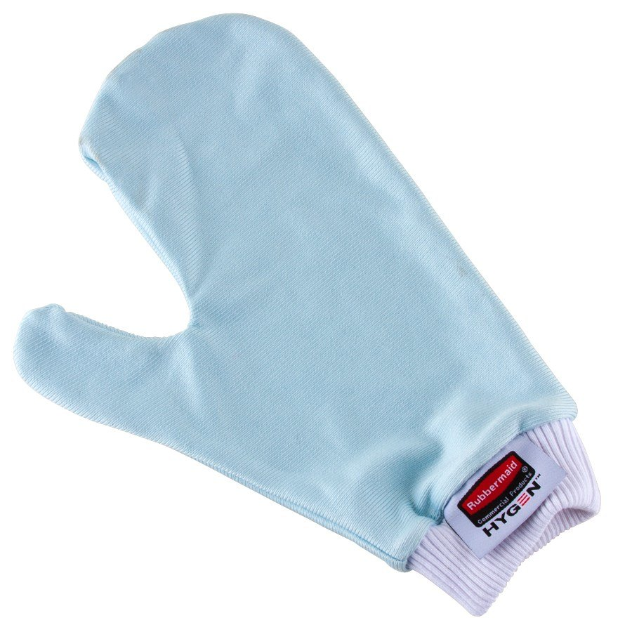 Rubbermaid FGQ65100BL00 HYGEN Blue Microfiber Glass / Mirror Mitt with Thumb