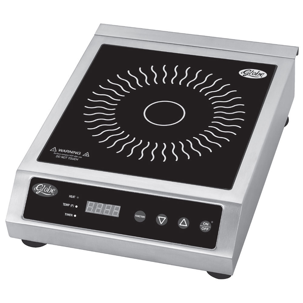 Ceramic Countertop Stove : Globe GIR18 Ceramic Countertop Induction Range - 1800W