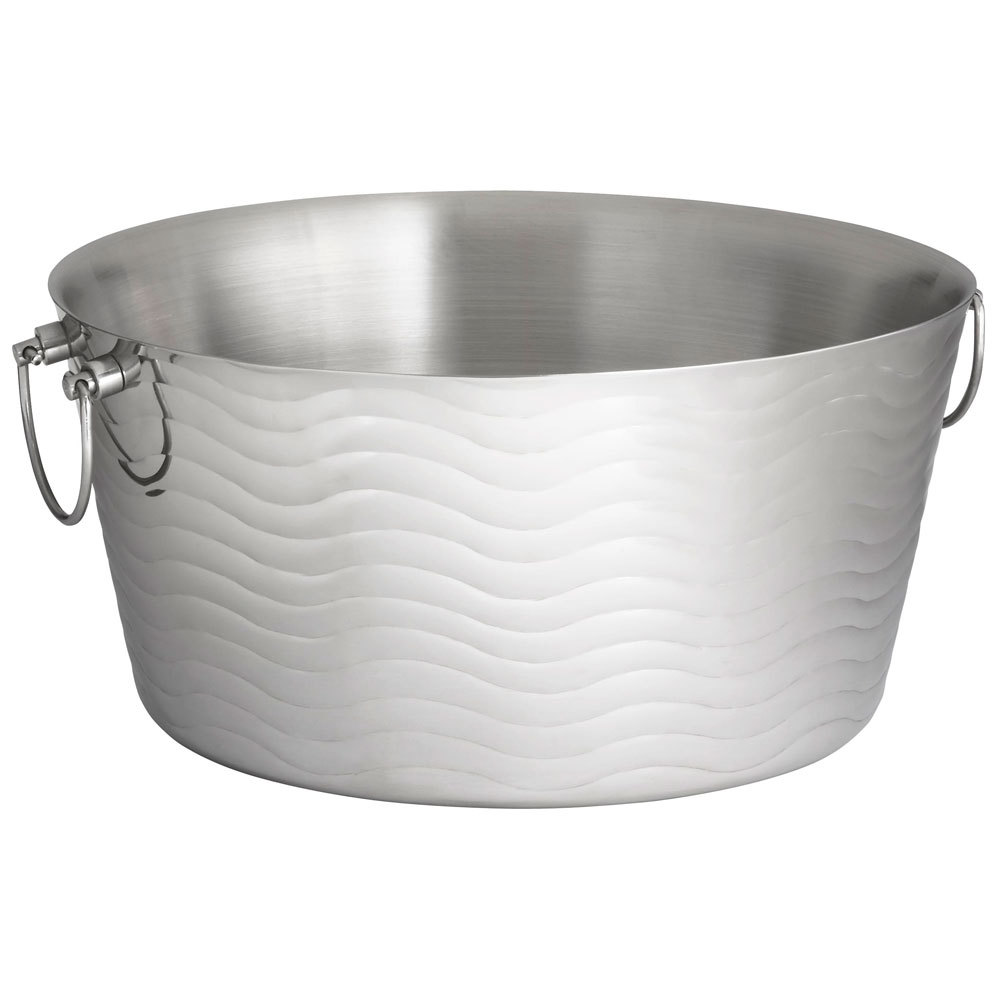 Stainless Wash Tub : ... Wave Round Stainless Steel Double-Walled Beverage Tub - 19