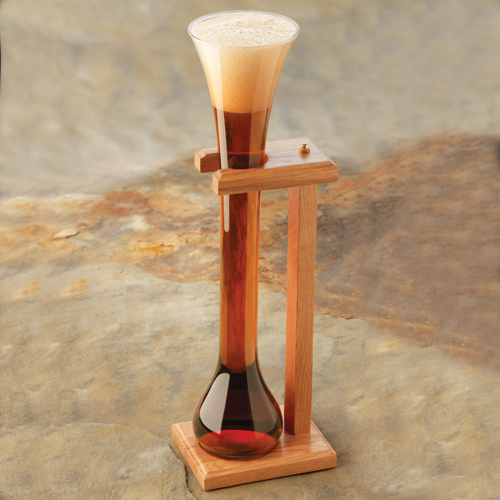 Libbey 55444 32 oz. Half Yard of Ale Glass with Stand