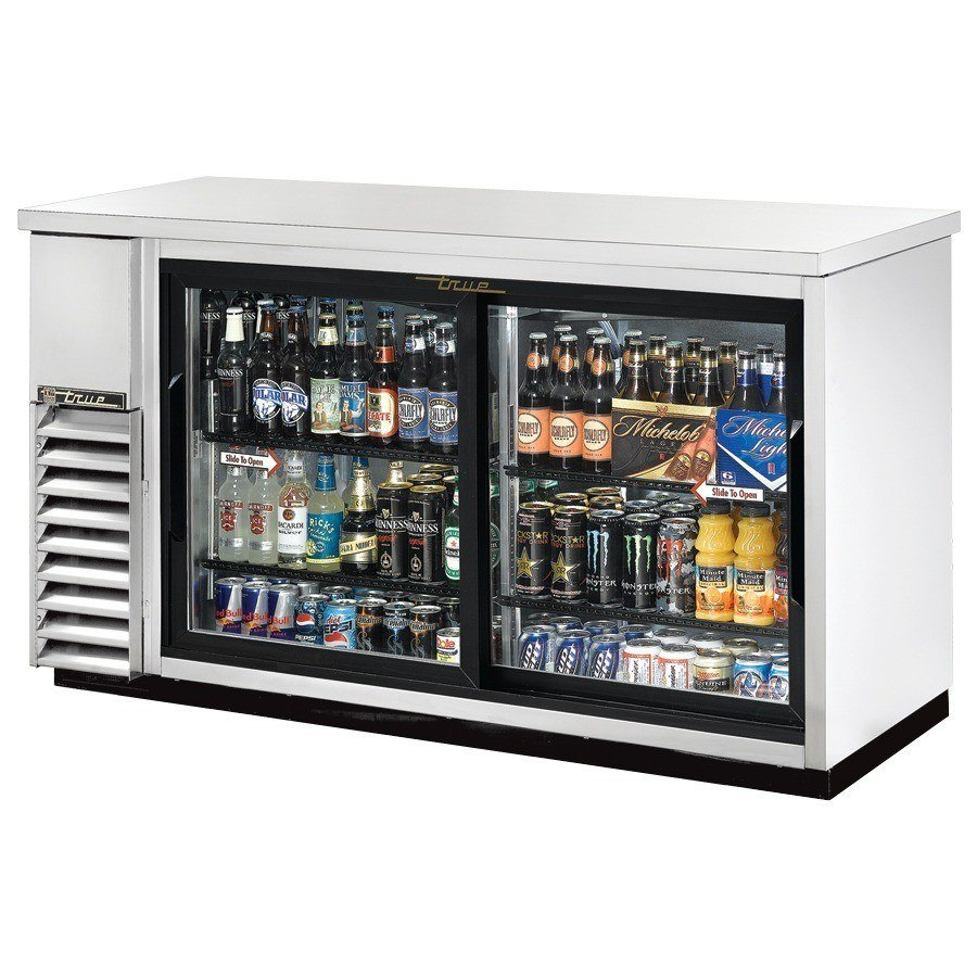 "True Refrigeration True TBB-24-60G-SD-S 61"" Back Bar Cooler Stainless Steel with 2 Sliding Glass Doors - 24"" Deep at Sears.com"