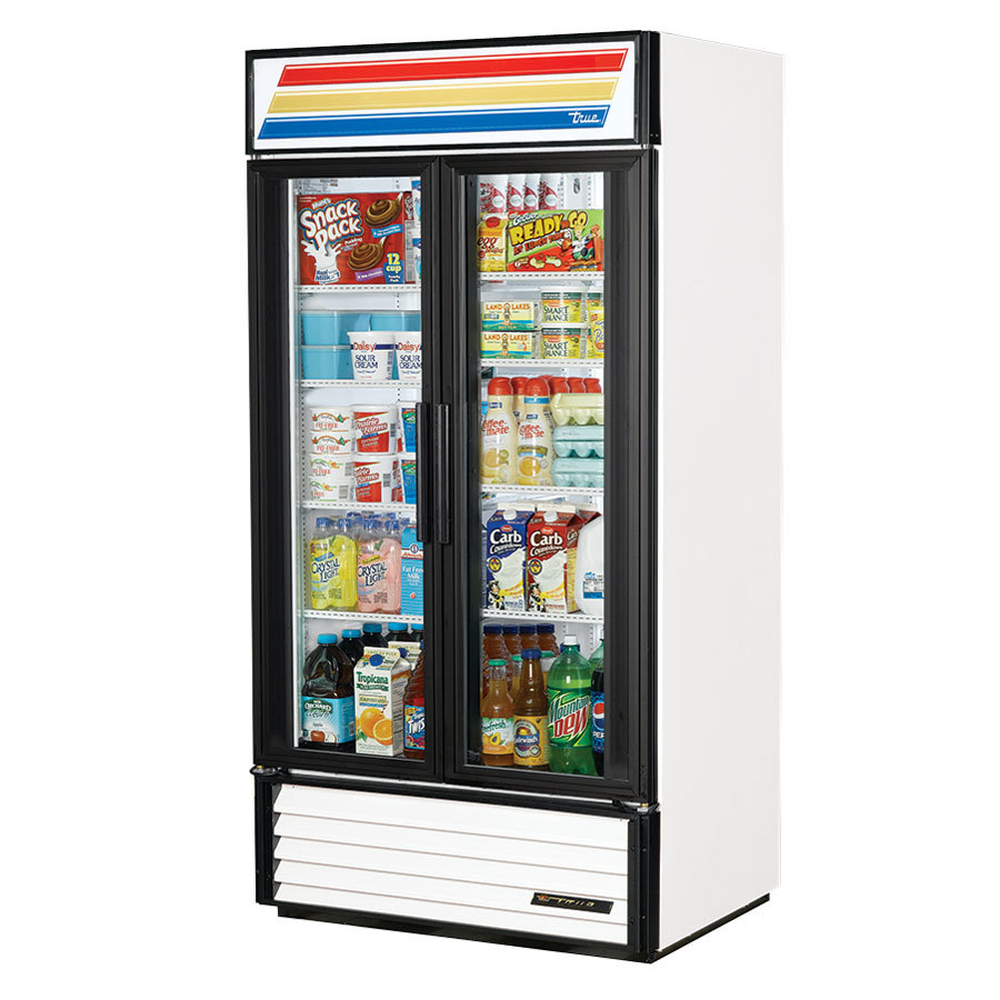 White True GDM-35 Refrigerated Glass Door Merchandiser - 35 Cu. Ft.