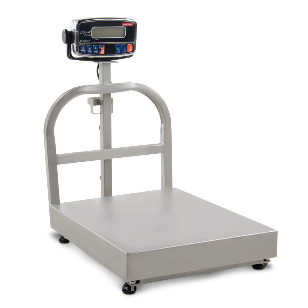 Tor Rey EQB-100/200-W 200 lb. Waterproof Digital Receiving Bench Scale, Legal for Trade
