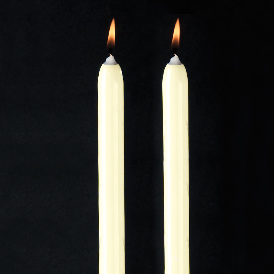 "Will & Baumer 8"" Ivory Chace Candle 2 / Pack"