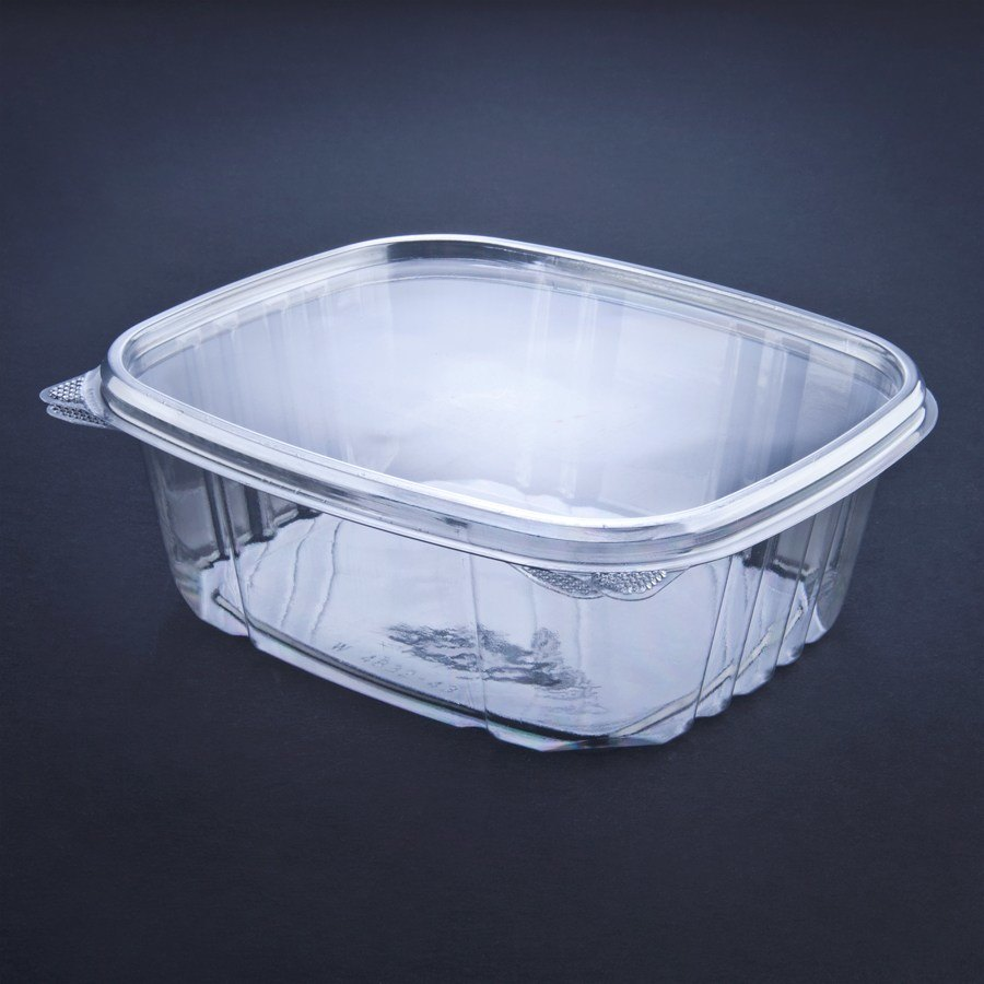 Wilkinson VersaPak 32 oz. Recyclable Square Hinged Take Out Deli Container 200/Case