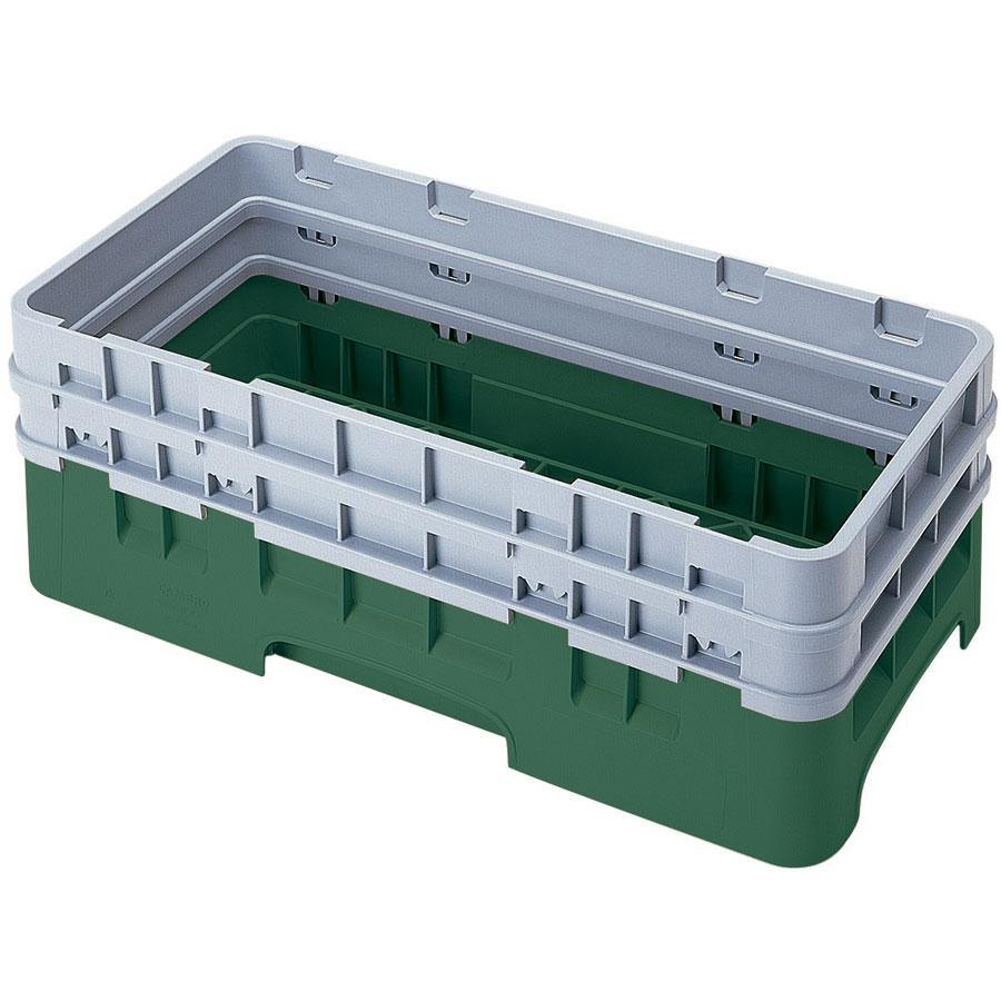 Cambro HBR578119 Sherwood Green Camrack Half Size Open Base Rack with 2 Extenders