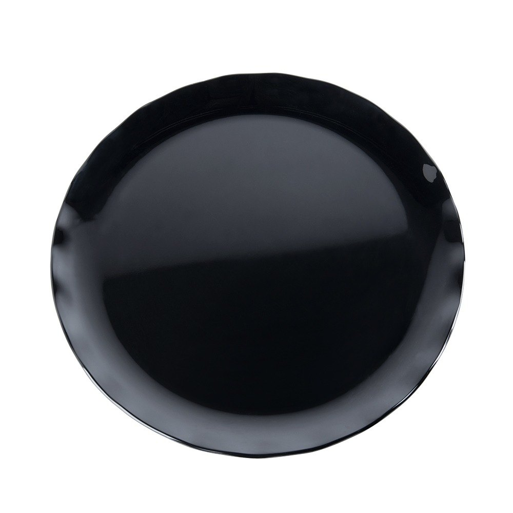 "20"" Black Pearl Two-Tone Melamine Plate - 2/Pack"