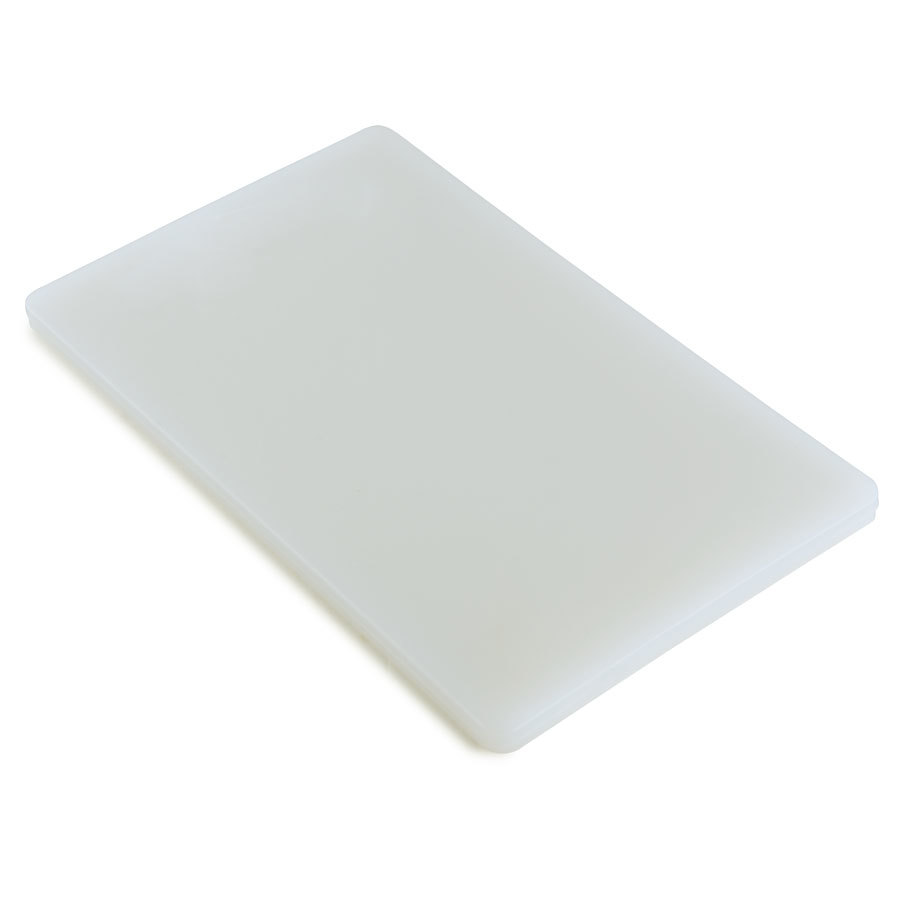 18 inch x 24 inch x 3/4 inch Poly White Cutting Board