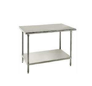 "Advance Tabco 16 Gauge Advance Tabco AG-3012 30"" x 144"" Stainless Steel Work Table with Galvanized Undershelf at Sears.com"