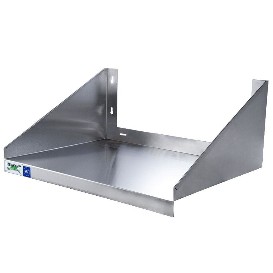 Regency 24 inch x 18 inch Stainless Steel Microwave Shelf