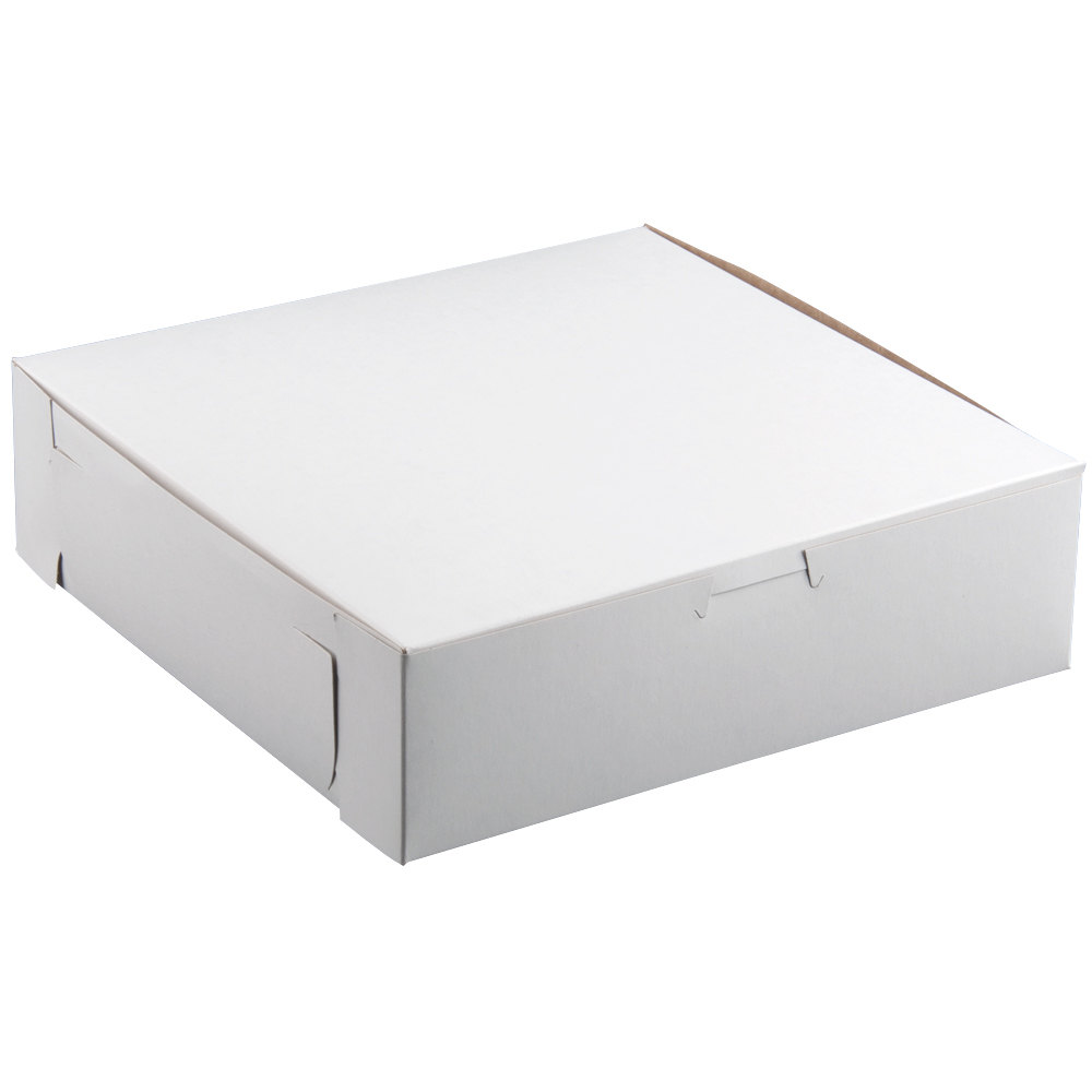 "8"" x 8"" x 2 1/2"" White Cake / Bakery Box - 250 / Bundle"