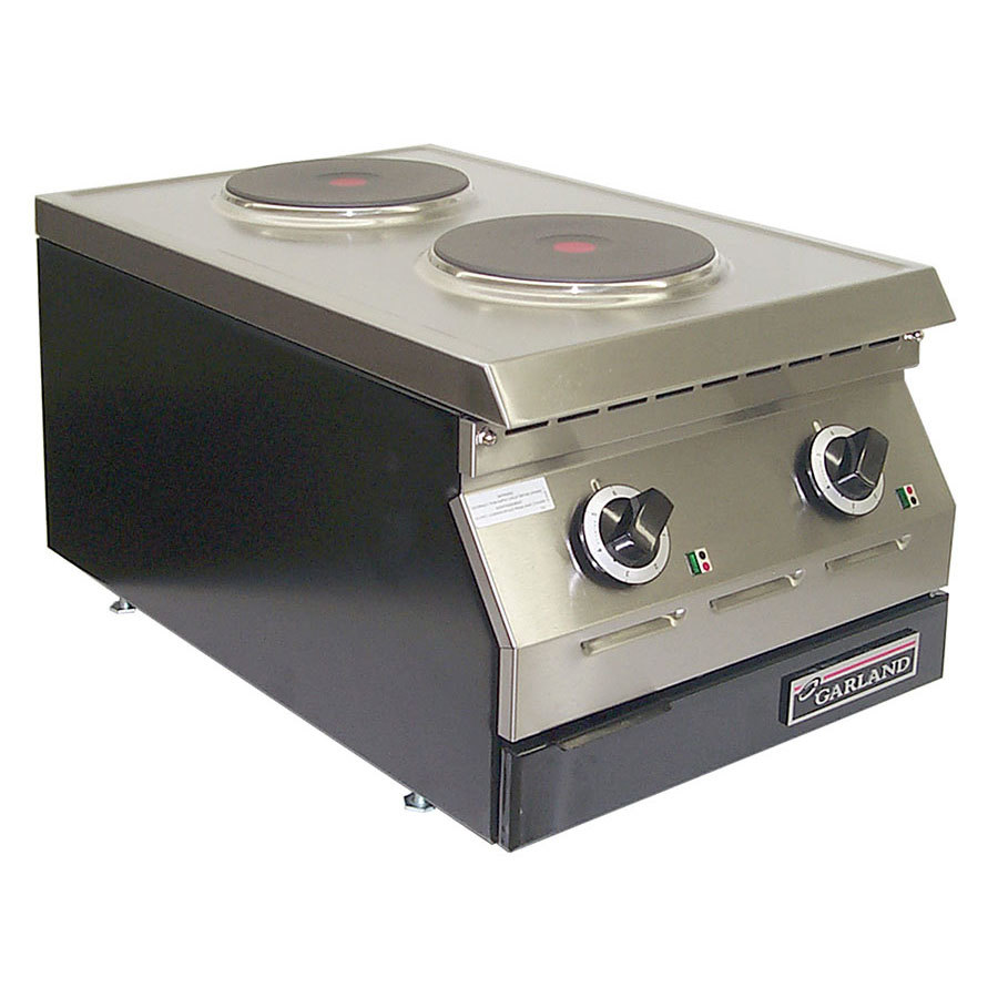 "Garland / US Range 240V Single Phase Garland ED-15THSE Designer Series 15"" Two Burner Electric Countertop Hot Plate - 7 1/2"" Solid Elements at Sears.com"