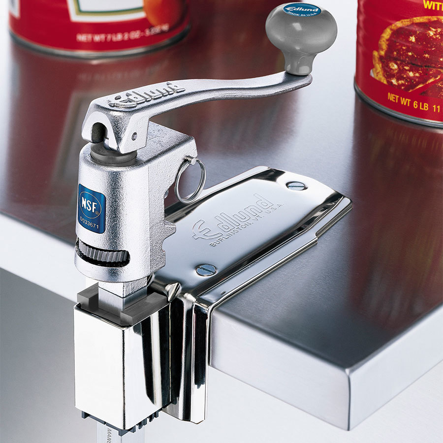 """Edlund U-12 CL #1 Manual Can Opener with 22"""" Adjustable Bar and Cast Stainless Steel Clamp Base at Sears.com"""