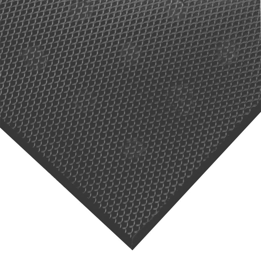 3' x 5' VIP Black Cloud Black Rubber Floor Matting 3/4 inch T