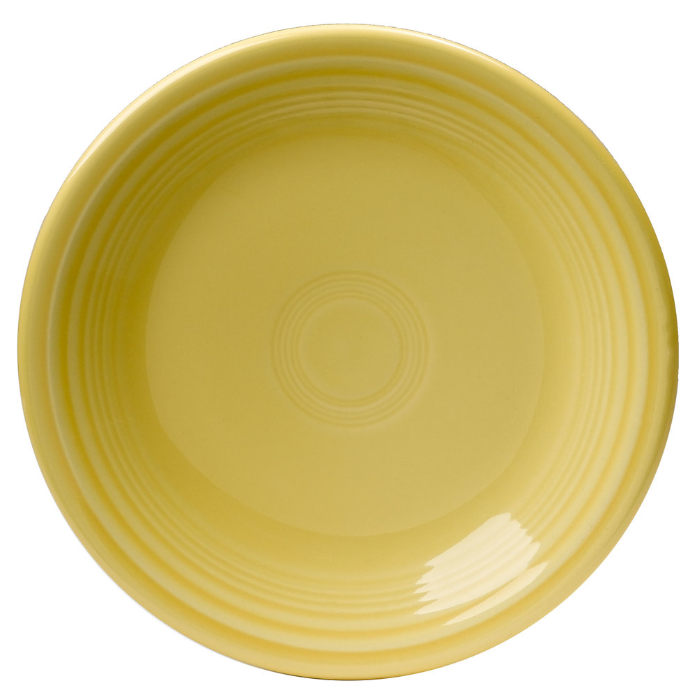 "Homer Laughlin 464320 Fiesta Sunflower 7 1/4"" Salad Plate - 12 / Case"