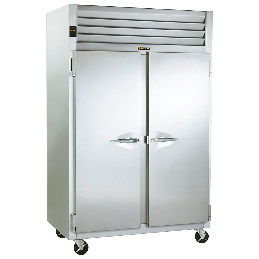 Traulsen G24310 Solid Door 2 Section Hot Food Holding Cabinet with Left / Right Hinged Doors