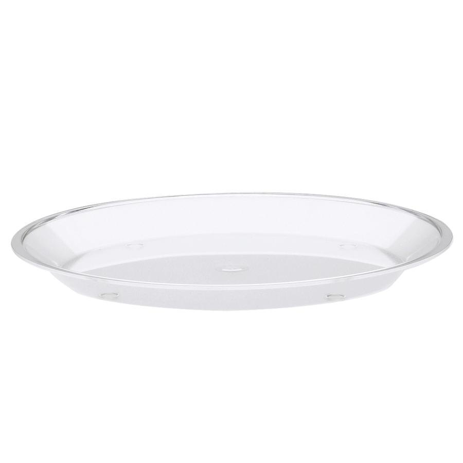 "Cal-Mil 315-15-12 15"" Clear Turn N Serve Shallow Tray"